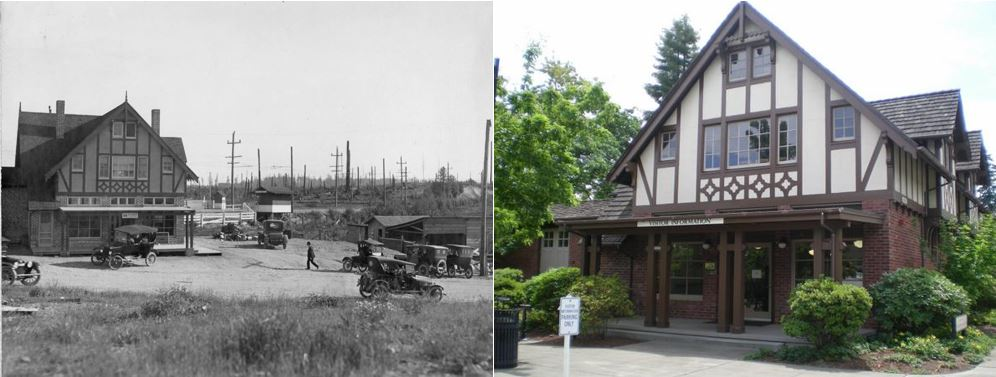 Wickers Mercantile, early 1900s and 2014